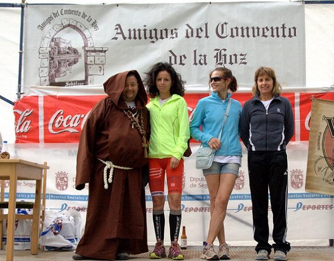 El podium femenino. Foto: Asociación Amigos del Convento